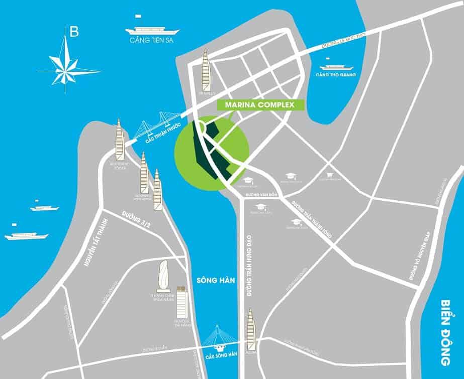 Vị trí Dự án Marina Complex