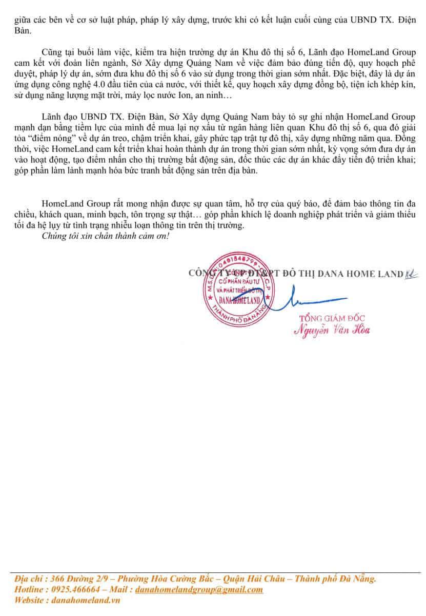 Homeland Group Thong Cao Bao Chi Ve Viec Xay Dung 8 Can Biet Thu Tai Khu Do Thi So 6 2