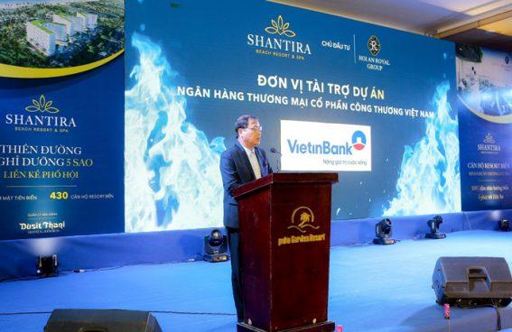 Giám đốc VietinBank Hội An Đinh Văn Nhâm phát biểu tại sự kiện