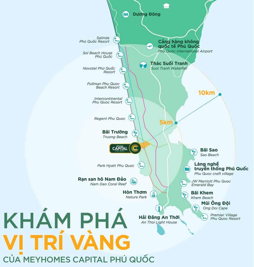 Vị trí Meyhomes Capital Phú Quốc