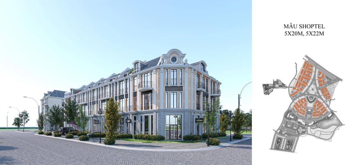 Thiết kế căn Shoptel La Queenara Hội An
