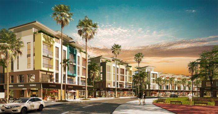 Những khu nhà phố tại phân khu Olive
